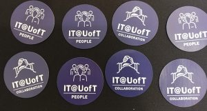IT@UofT people and collaboration stickers.