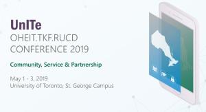 UnITe 2019 conference logo. May 1-3, University of Toronto