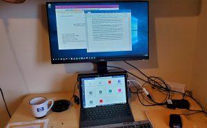 CIO Bo Wandschneider's workspace at home